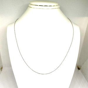 24'' Cable Neck Chain in 14K White Gold, 1.1mm